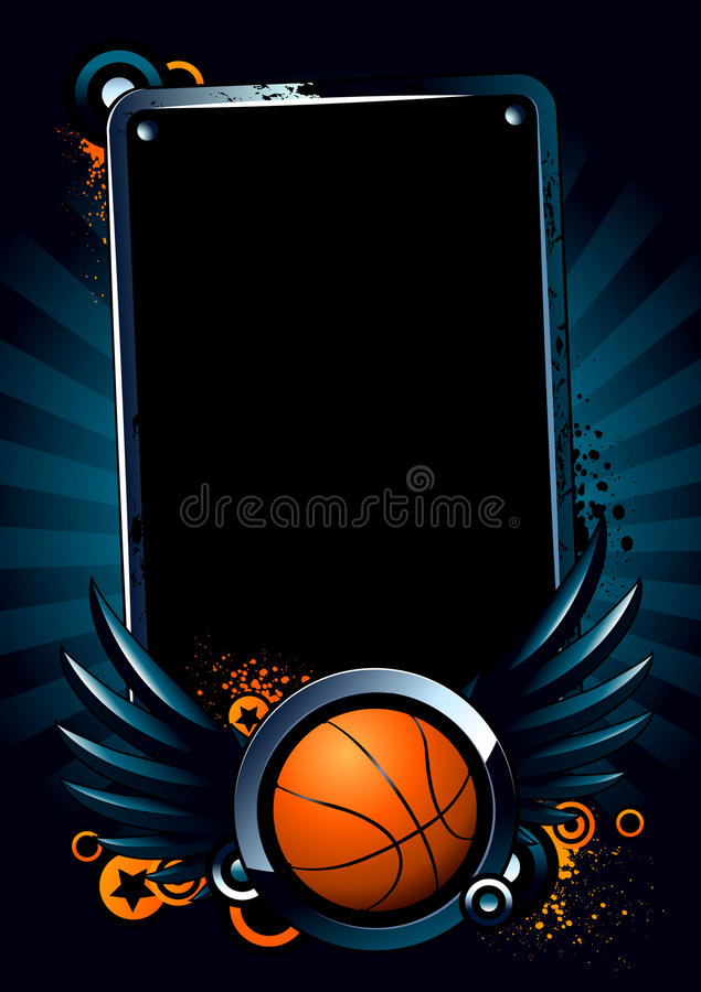 Basketball banner royalty free illustration
