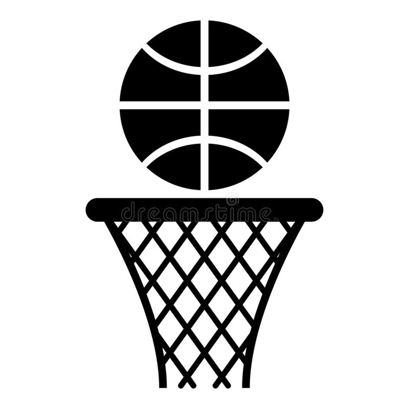 Free Basketball Basket And Ball Hoop Net And Ball Icon Black Color Vector Illustration Flat Style Image Stock Photo - 146442920