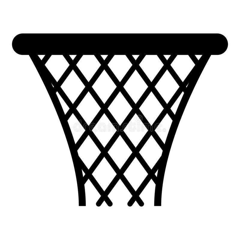 Free Basketball Basket Streetball Net Basket Icon Black Color Illustration Stock Photos - 132070153