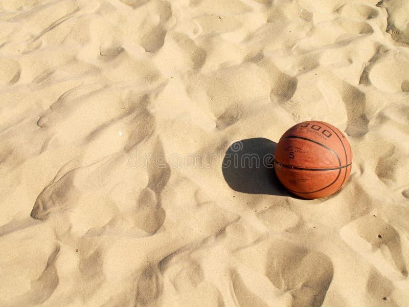 Basketball in the beach stock photo