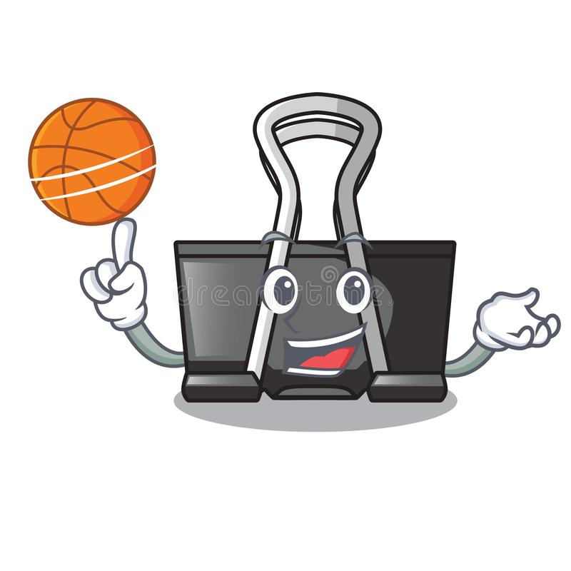 With basketball binder clip in the character shape. Vector illustration royalty free illustration