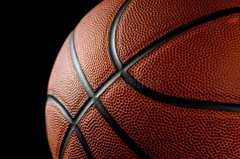 Basketball on black stock photography