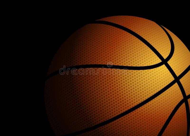 Basketball on black background vector illustration