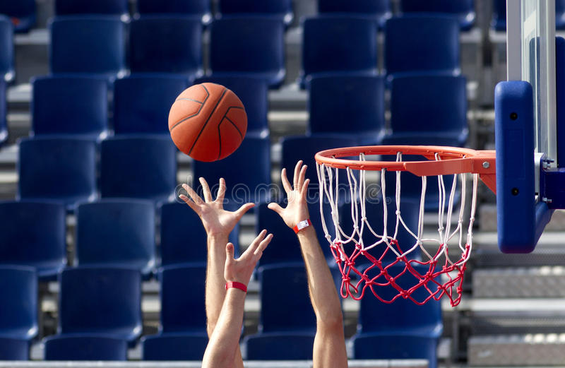 Basketball bounce royalty free stock photos