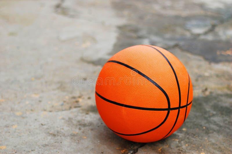 Basketball on Broken Pavement royalty free stock photo