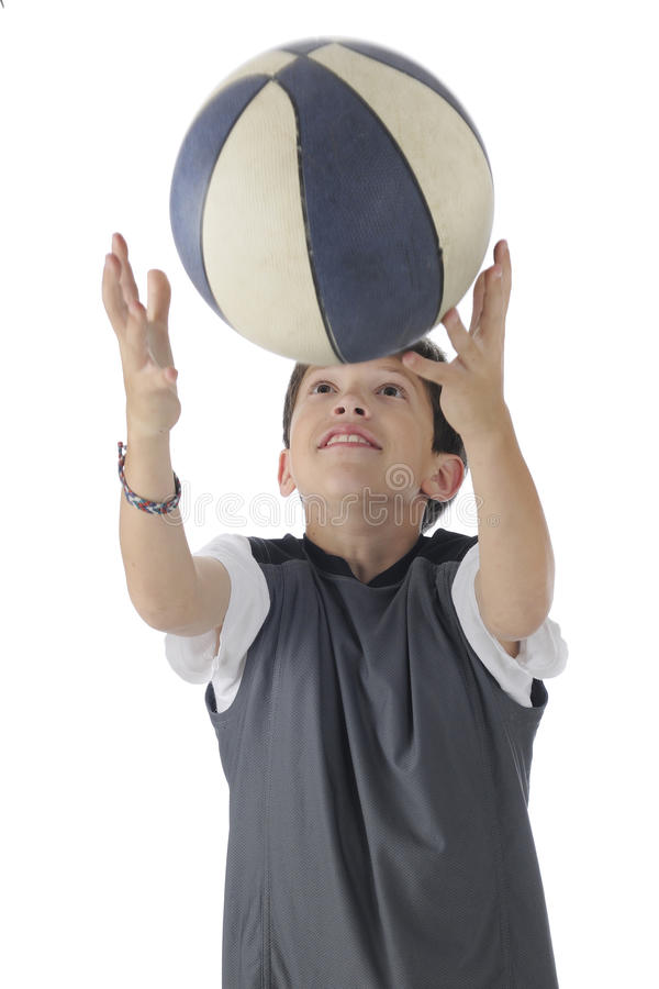 Download Basketball Catch stock photo. Image of person, male, reaching - 25128456