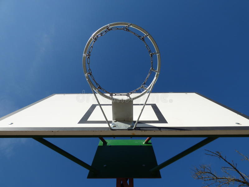 Basketball chain ring wooden board stock photo