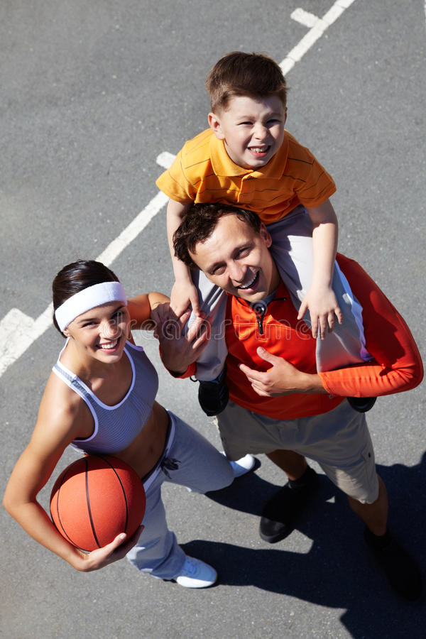 Basketball champions royalty free stock images