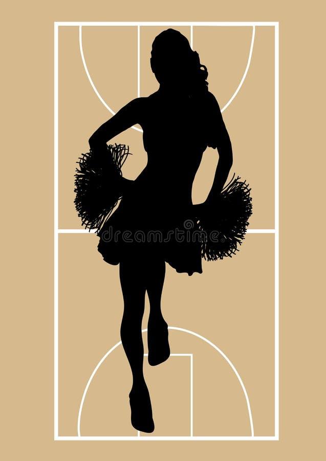 Basketball-Cheerleader 1 lizenzfreie abbildung