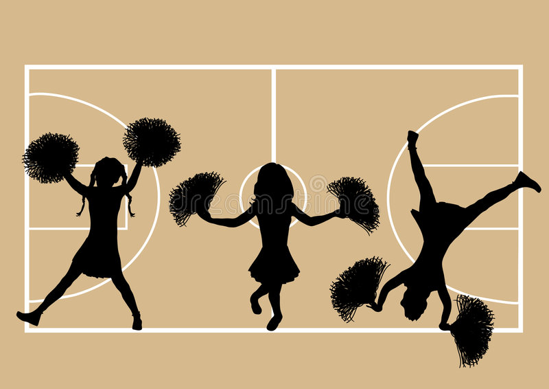 Download Basketball Cheerleaders 5 stock illustration. Image of half - 4789184