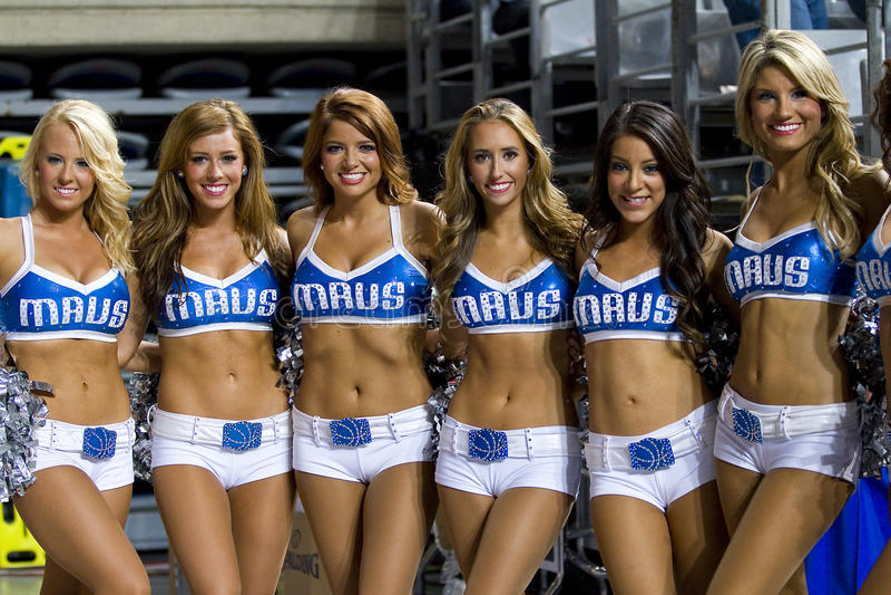 Basketball cheerleaders stock photo