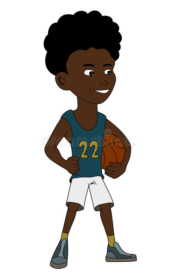 Basketball child illustration royalty free stock photo
