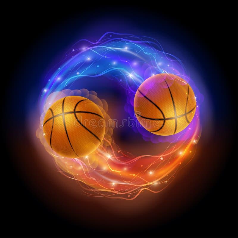 Basketball comet royalty free illustration