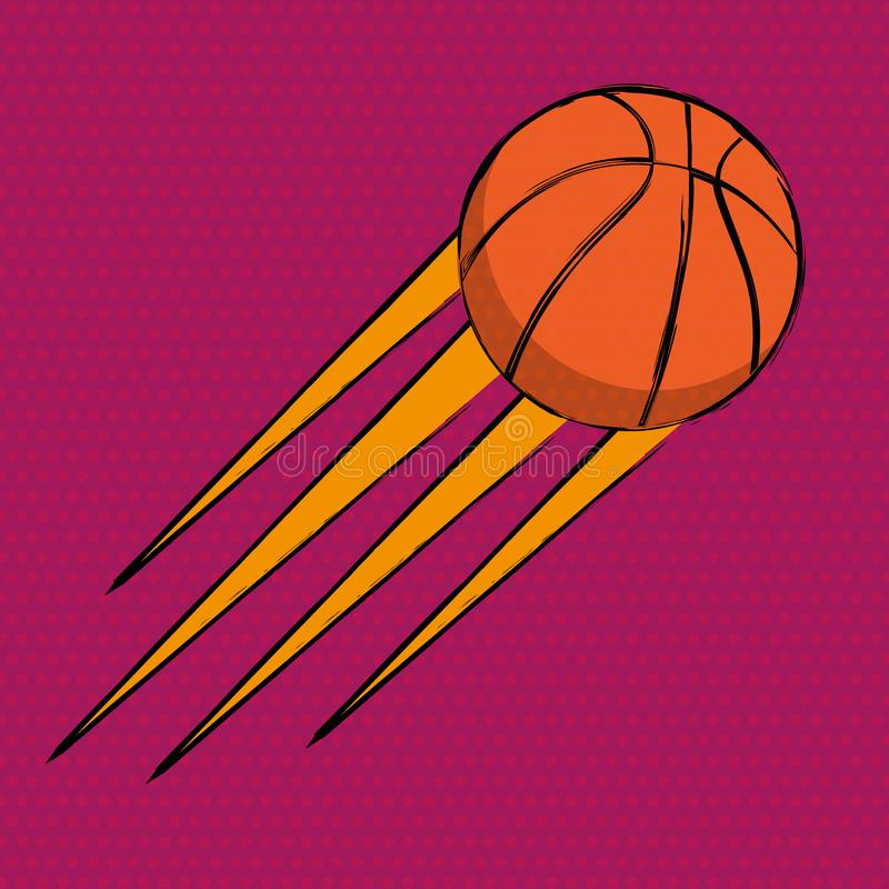 Basketball comics poster. Abstract vector background stock illustration