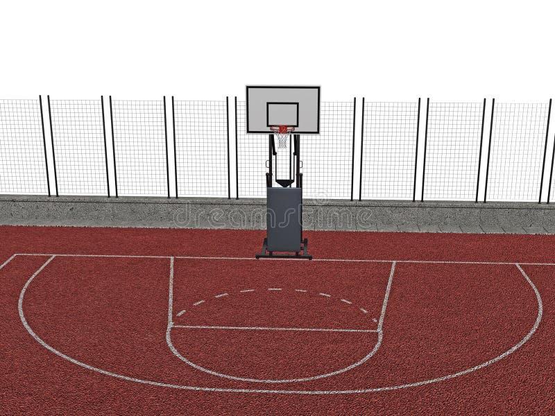 Basketball Court Stock Photo