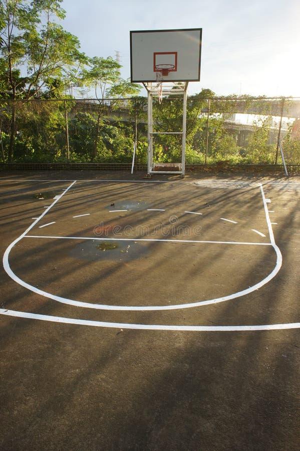 Basketball court. The basketball court under sunshine royalty free stock photography