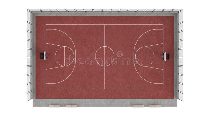 Download Basketball court stock illustration. Image of line, area - 23601556