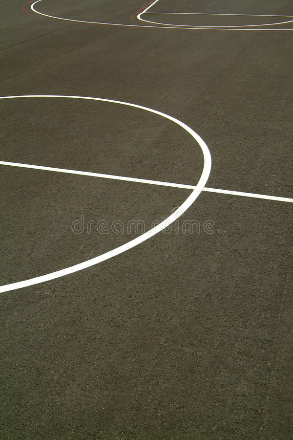 Basketball court. With tarmac floor stock photography