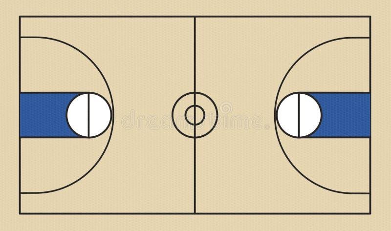 Basketball Court. A vector illustration of a basketball court and all of its court markings vector illustration