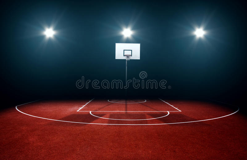 Basketball court lizenzfreie stockfotografie