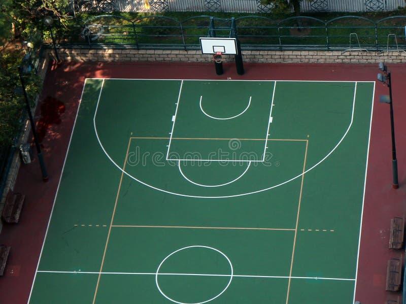 Basketball court stockbilder
