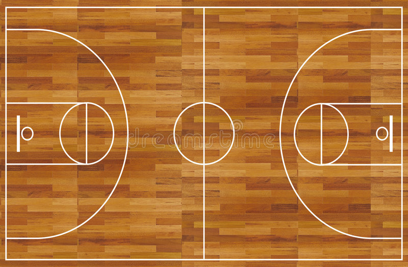Basketball court royalty free illustration
