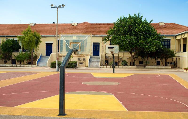 Basketball court stockfotos