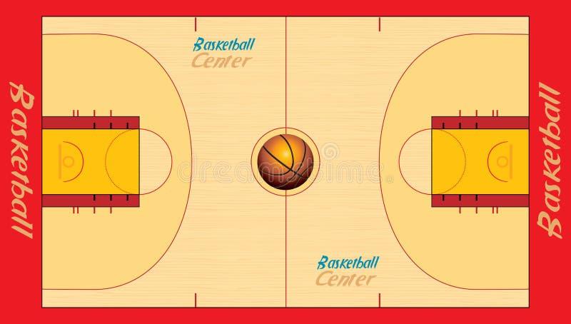 Basketball court. Illustration of basketball court including vector format