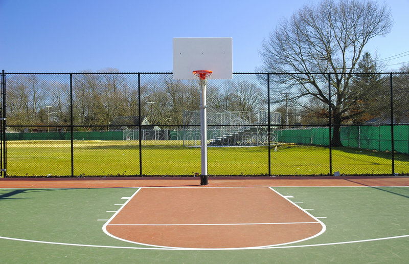 Basketball Court. Outdoor Basketball Court royalty free stock photo
