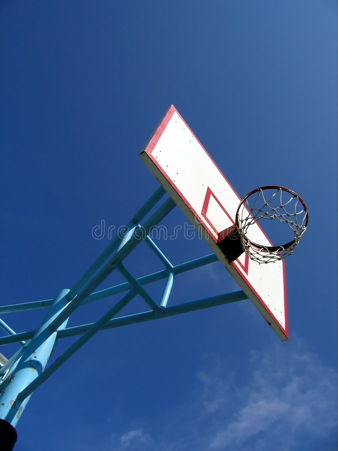 On the Basketball Court. Useful for sports and exercise themes stock image