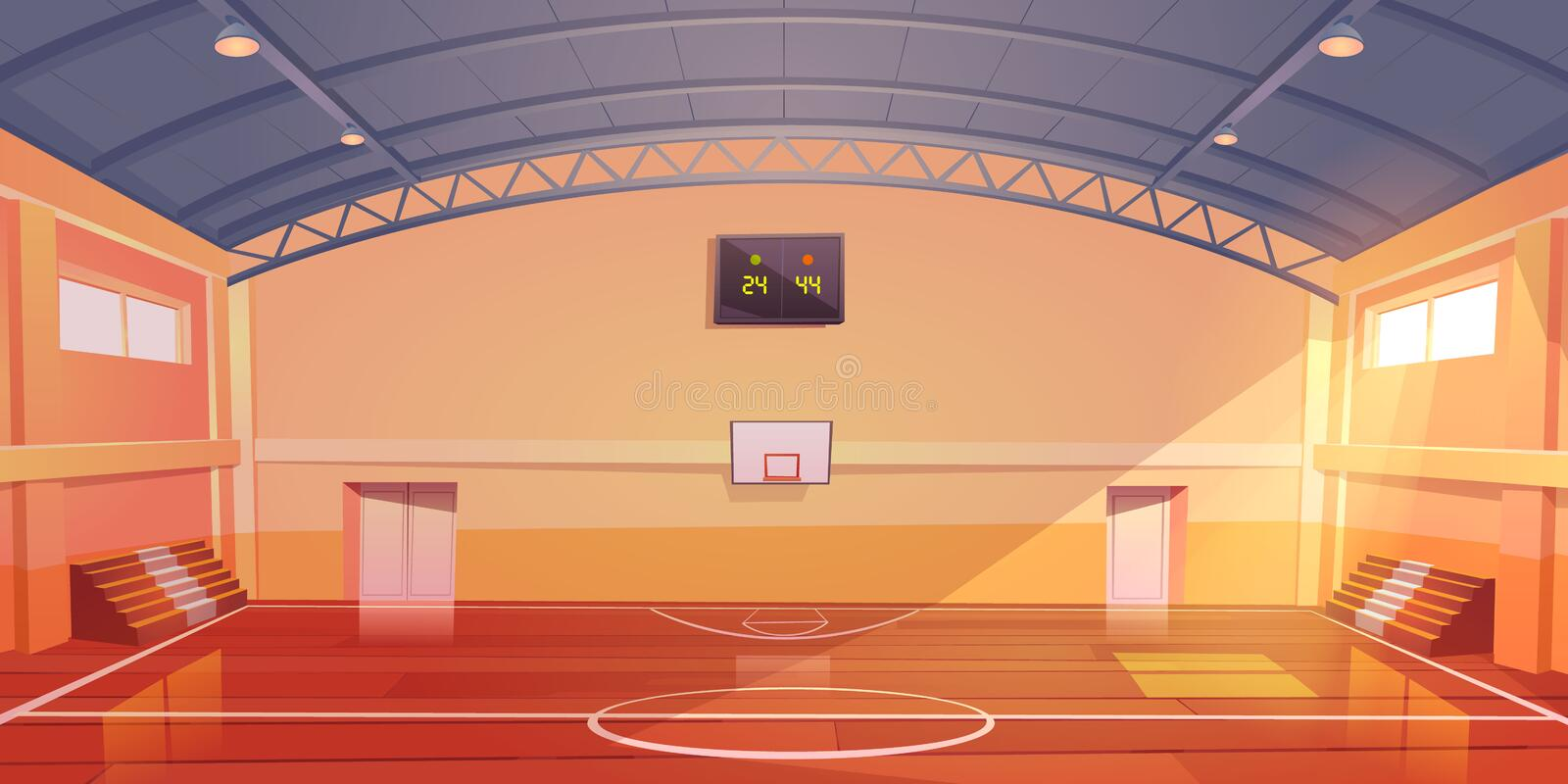 Indoor Basketball Court Stock Illustrations 727 Indoor Basketball Court Stock Illustrations Vectors Clipart Dreamstime