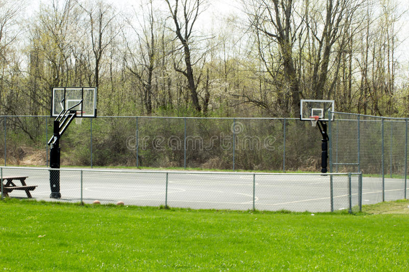 Download Basketball Court stock photo. Image of local, fenced - 91656590