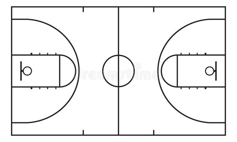 Basketball court Hintergrund für Sportstrategie Infographic Element lizenzfreie abbildung