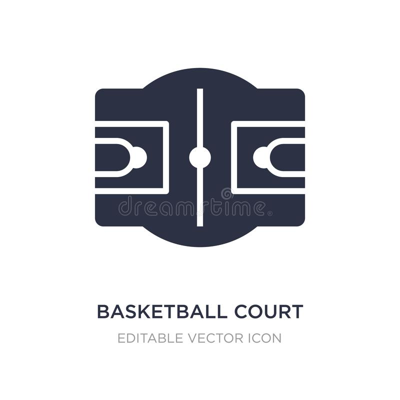 Basketball court icon on white background. Simple element illustration from Sports concept. Basketball court icon symbol design stock illustration