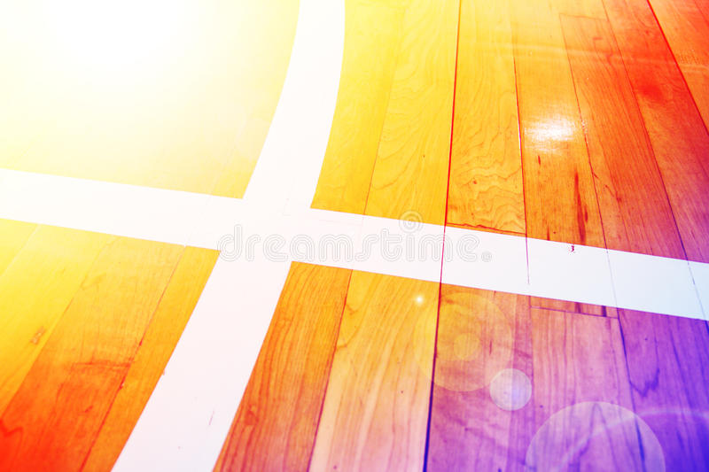 Basketball court. Image wooden floor basketball court royalty free stock photography