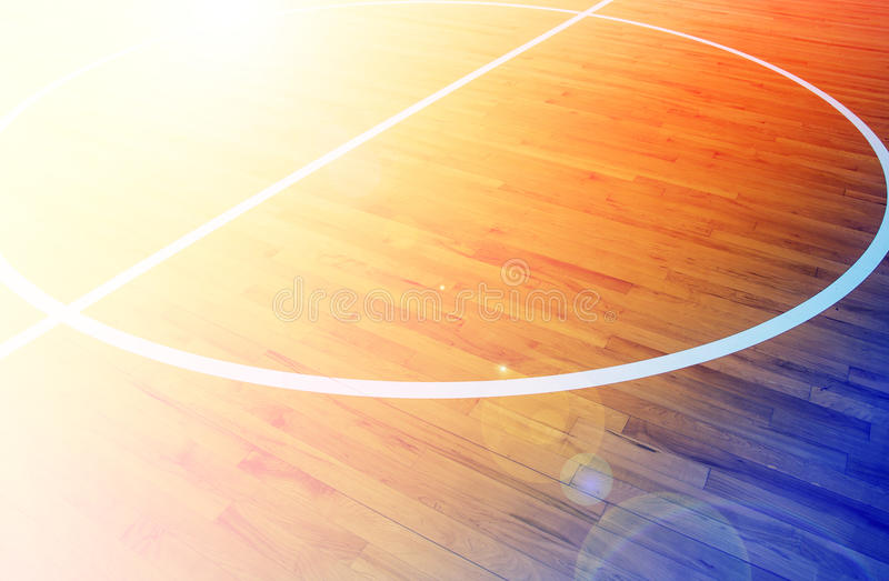 Basketball court. Image wooden floor basketball court stock images