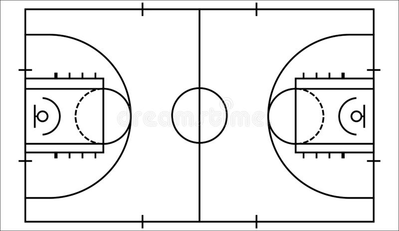 Vector Basketball Court Stock Illustrations 5 270 Vector
