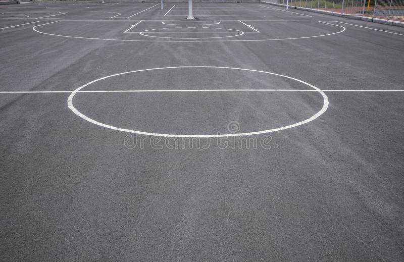 Basketball court lines stock photography