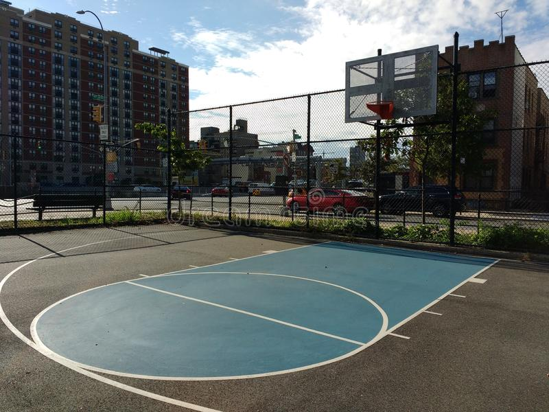 Basketball Court in New York City, USA royalty free stock photos