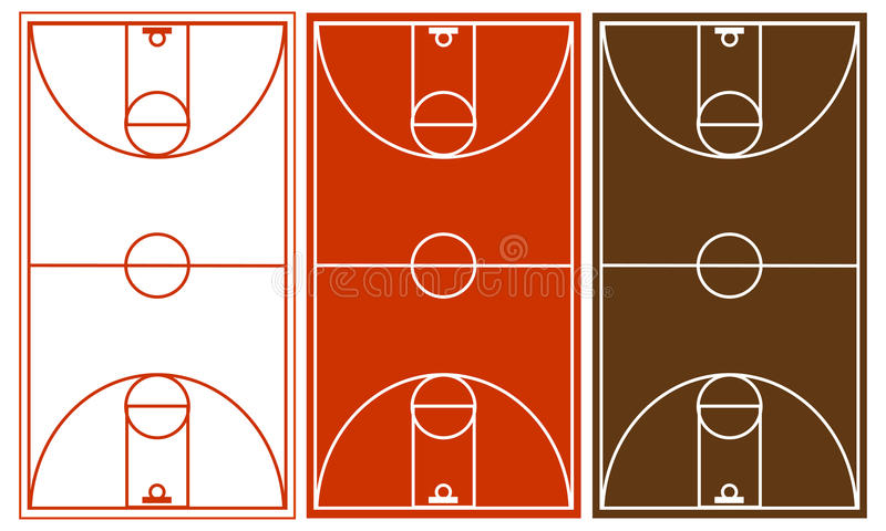 Download Basketball Court Set stock vector. Illustration of parquet - 23742443