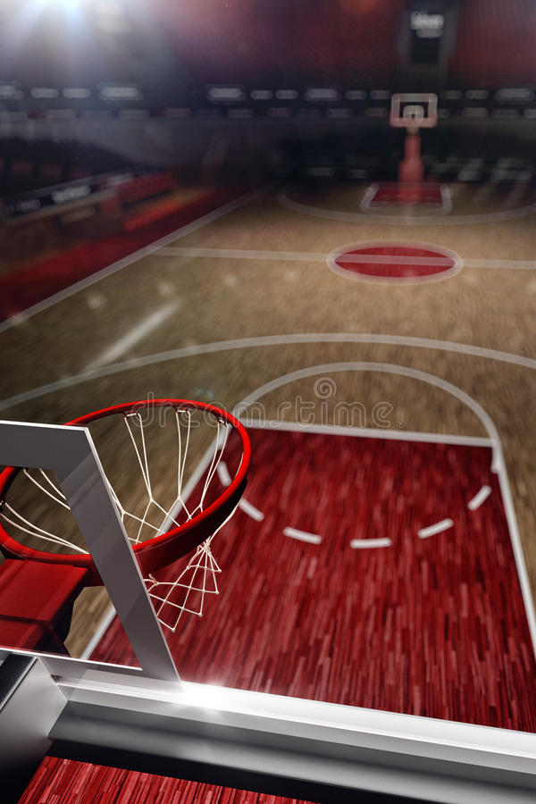 Basketball court sport arena 3d render background stock for Basketball court cost estimate