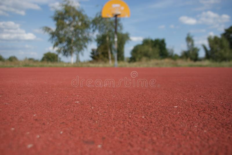 Basketball court. Sport, red, nature, nba stock image