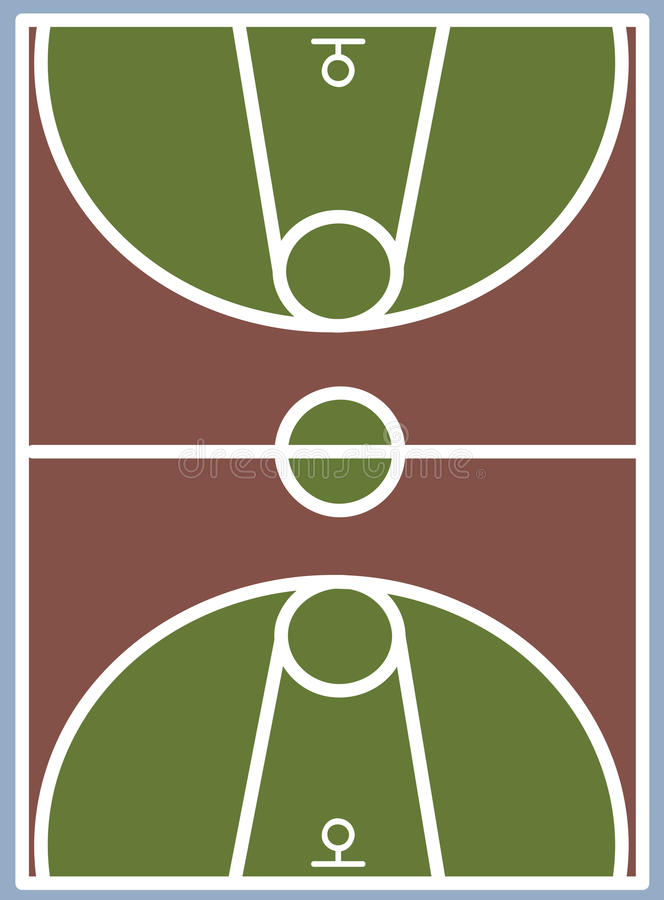 Basketball court. Vector Illustration backgrounds royalty free illustration