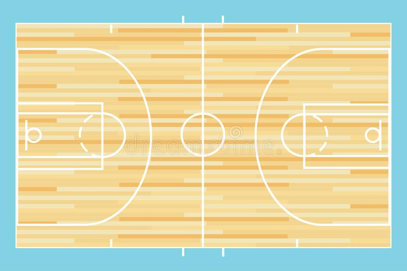 Basketball court vector. Basketball indoor outdoor court vector illustration background layout stock illustration