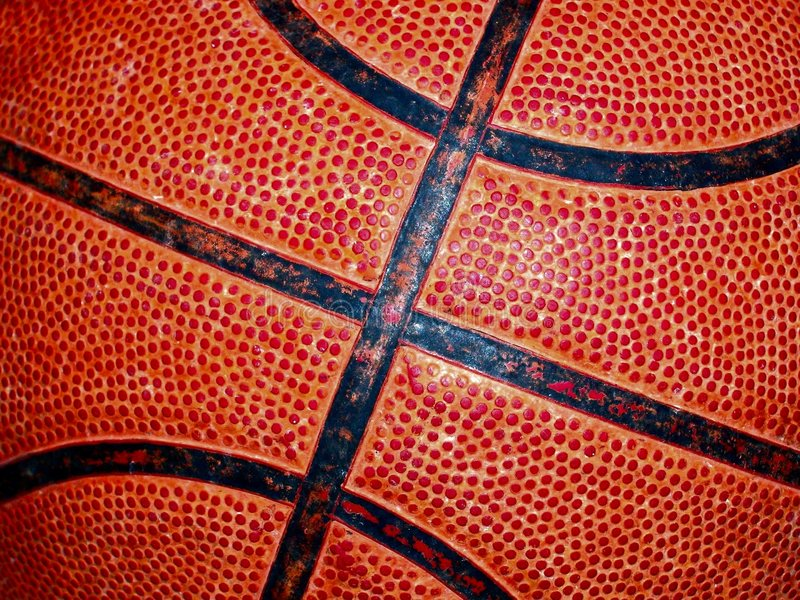 Basketball detail stock photography
