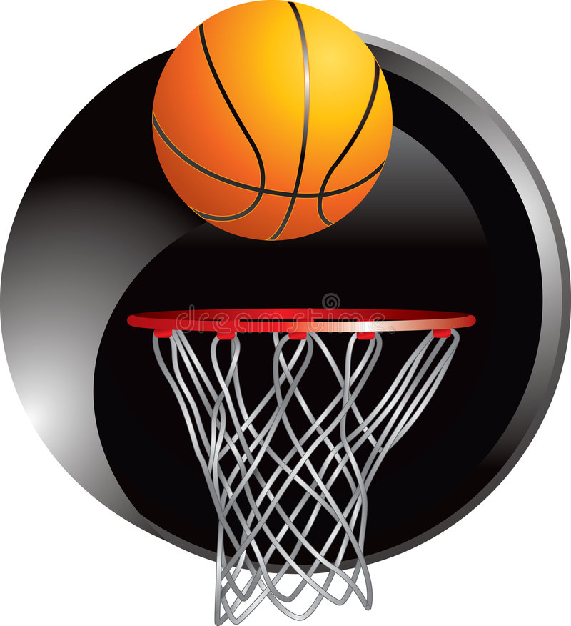Free Basketball Dropping Into Hoop Stock Photography - 8915232