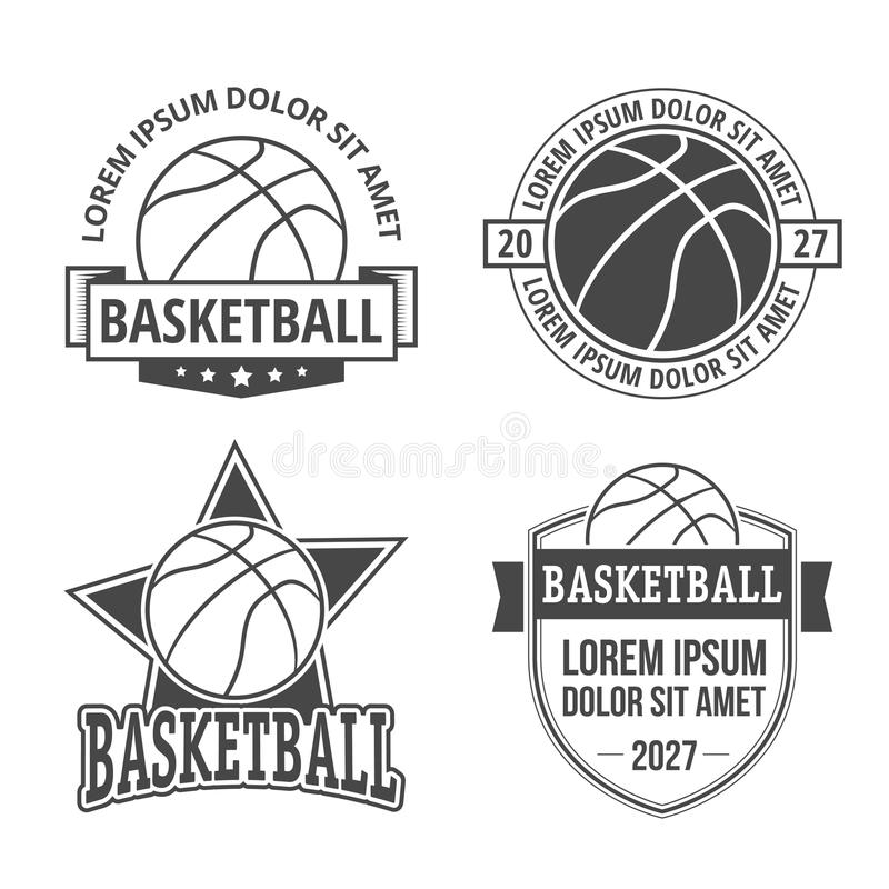 Set Of Basketball Emblems , Badges, Logos And Labels With