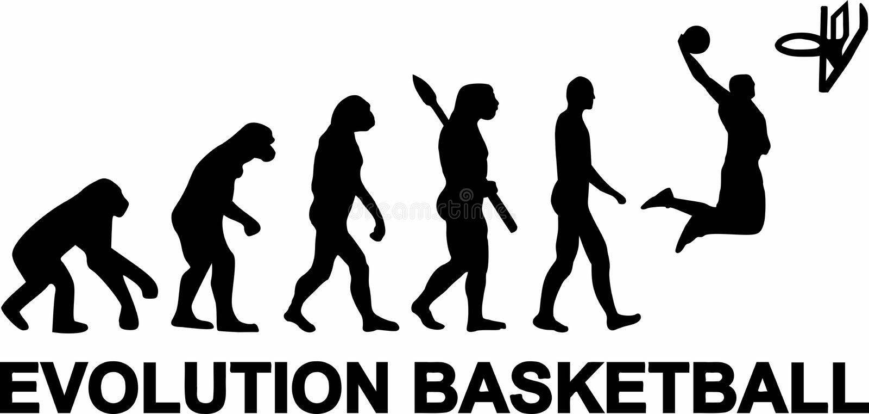 Basketball-Entwicklung stock abbildung