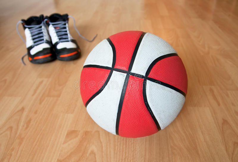 Download Basketball eqiupment stock photo. Image of shoes, court - 12523486