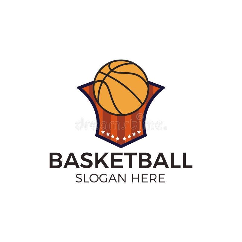 Basketball esport logo royalty free illustration